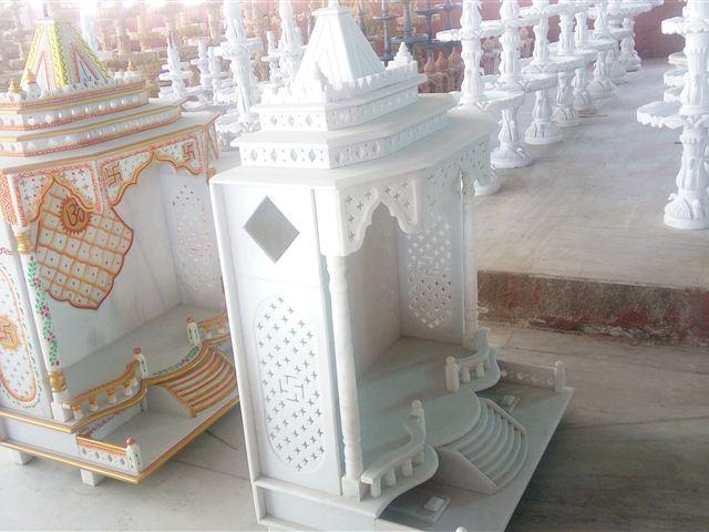 Priyal Marble Art Marble Pillars, Temples, Table Top, Flower Pots in ...